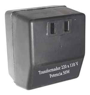 Transformador 220v A 110v De 50w, Reforzado Envios Todo País