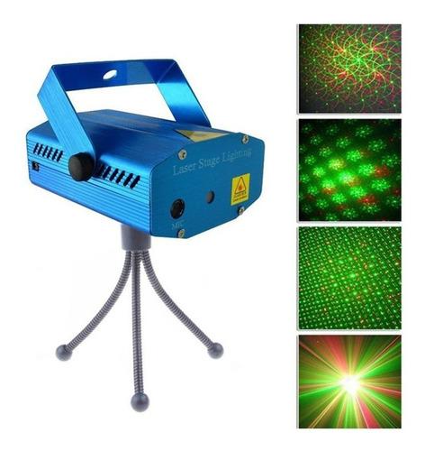 Imagen 1 de 3 de Mini Proyector Lluvia Laser Audio Ritmico Luces Multi Punto