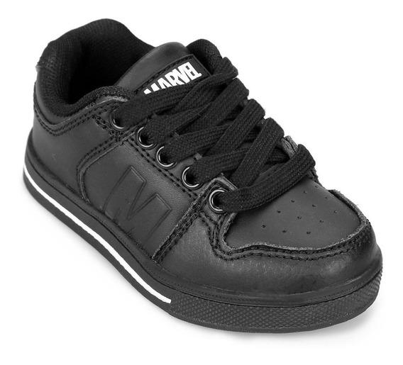 Zapatillas Marvel Escolares Negras Promo Fty Calzados!