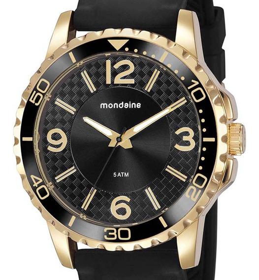 Relógio Mondaine Esporte Silicone 76723gpmvdi2 Dourado C/nf