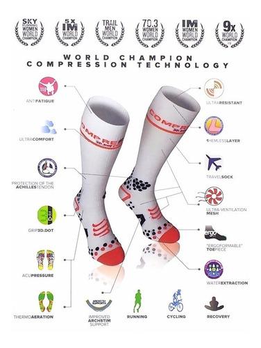 Meia De Compressão Compressport Full Socks V2.1  Promoção