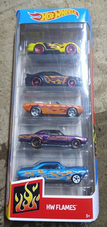 Paquete De 5 Autos Hotwheels