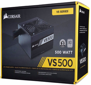 Fonte Vs500 500 Watts Reais Pc Gamer 80 Plus