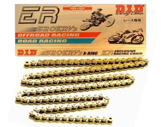 Corrente Competição Did 520 X 120 Erv3 Gold On E Off Road