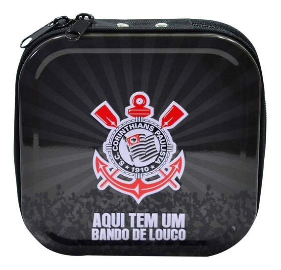 Porta Cd Metal Para 24 Cds - Corinthians