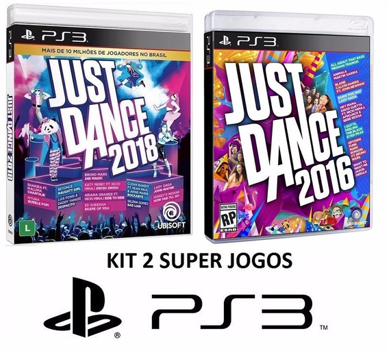 Just Dance 2018 + 2016 - Midia Fisica Original Lacrado - Ps3