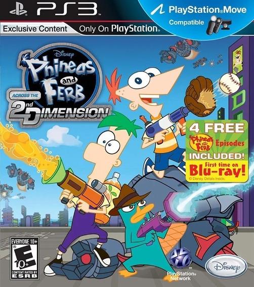 Phineas And Ferb Across The 2nd Dimension Ps3-leia Descrição