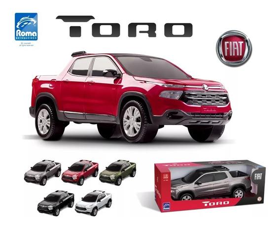 Fiat Toro 38cm Carro Brinquedo Cor Metalica Roma Brinquedos