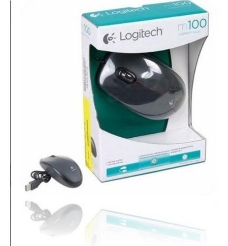 Pack 2  Mouse Logitech Usb Optico M100r Pc Laptop Servidor