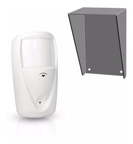 Sensor De Alarme Externo Ir45 Compatec Com Protetor De Chuva