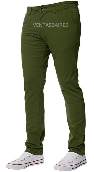 Pantalón De Gabardina Corte Chino Penguin Varios Colores