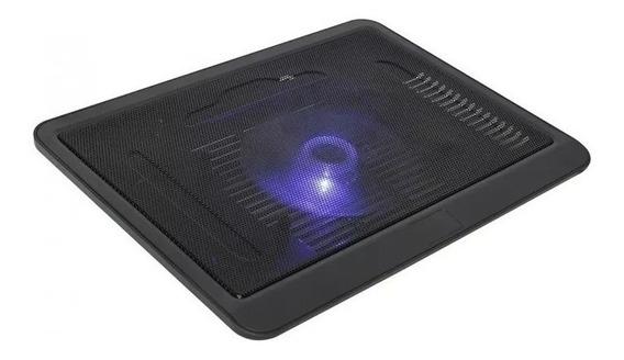 Suporte Base Para E Netbook Com Cooler Led Azul Gamer