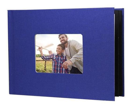 Photobook Kodak Album Adesivo 15x20 Linem Janela - Azul