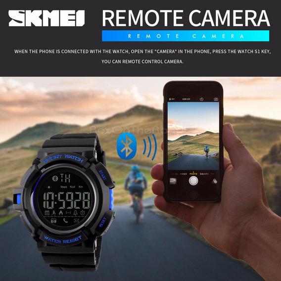 Relógio Bluetooth Skmei 1245 Original Pedômetro Fotos Mensag