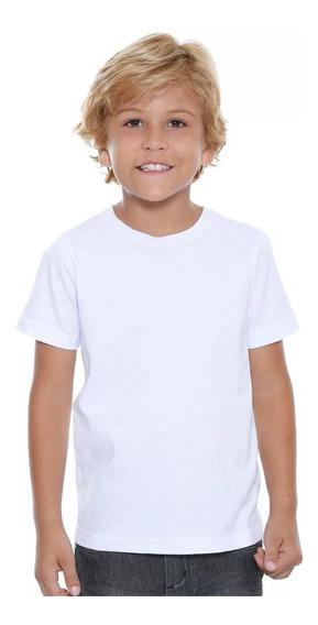 20 Camisa Infantil Poliéster Blusa Sublimação Atacado