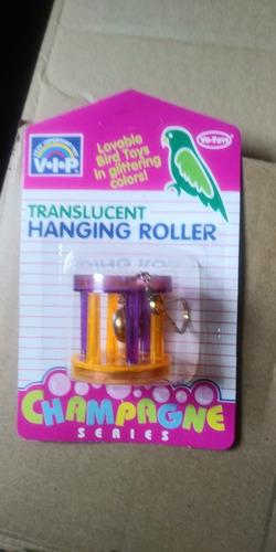 Imagen 1 de 1 de Vo-toys Colgante Traslucido Tipo Cilindro Para Ave Juguete Canario Lorito
