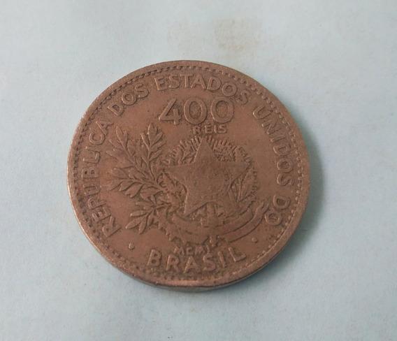 Moeda Antiga 400 Reis Metal Veja Fotos Vendida No Estado