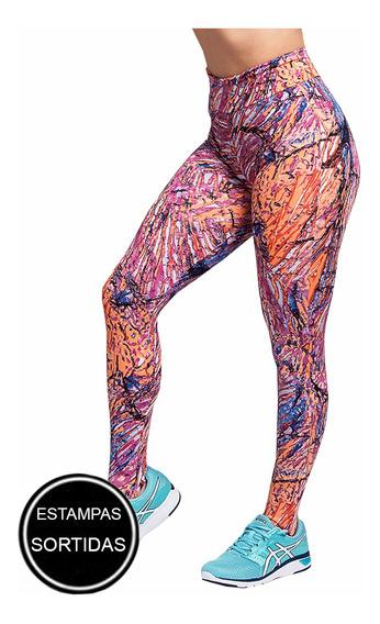 Kit 10 Calça Leg Cós Alto Legging Academia Fitness Atacado