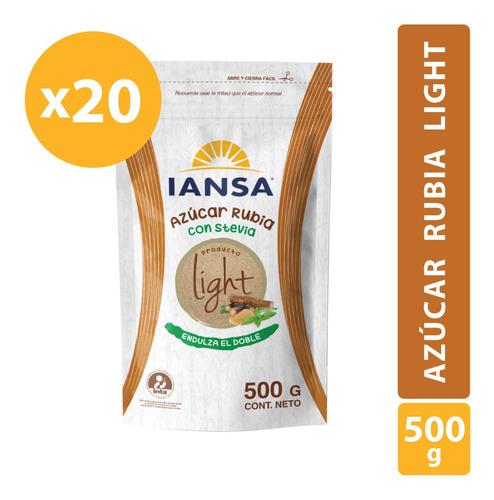 Azúcar Rubia Light Iansa 500g Pack 20 Unidades