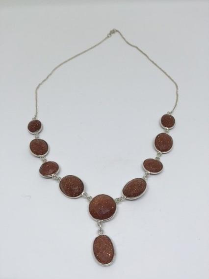 Colar Bali Pedra Do Sol Em Prata 925