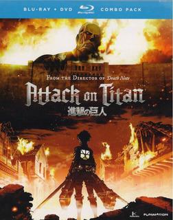 Attack On Titan Parte 1 Blu-ray + Dvd Combo Pack Nuevo