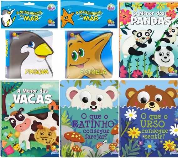 Livros De Banho + Livros Infantil Cartonado+bíblia Infantil
