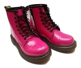 Botas Dr Martens Kids Delaney Pink Cherry Green Fabiuluzz