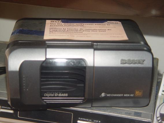 Disquetera Sony 6 Minidisc Mdx 62-para O Carro. Nova