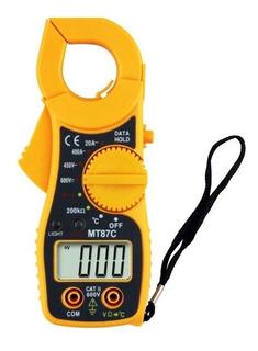 Alicate Amperimetro Digital Com Sensor De Temperatura Beep