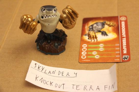 = Skylanders 4 = Knockout Terrafin Com Card