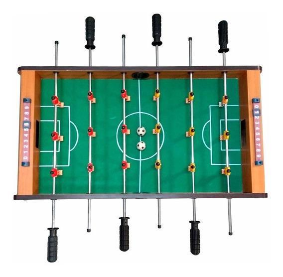 Mini Mesa De Pebolim Futebol Totó 69 X 37 X 22cm Completa