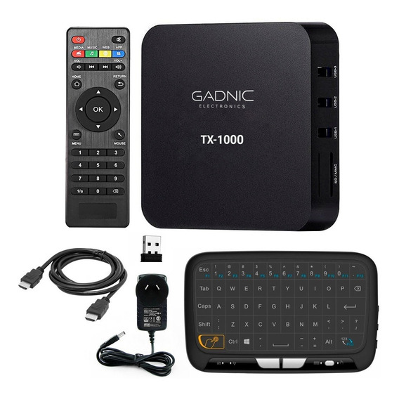 Tv Box Convertidor Smart Tv 4k 1gb Ram Android + Teclado Inalambrico Tactil Gadnic