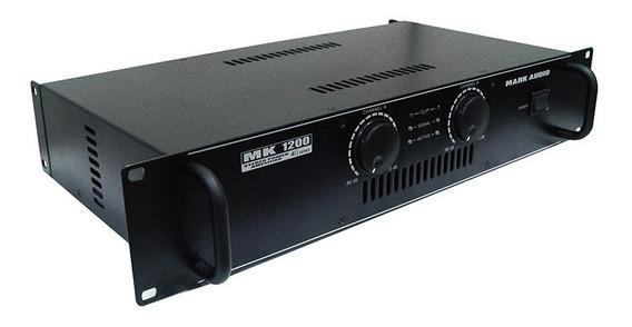 Amplificador Mk1200 Mark Audio By Attack Potência Maxcomp