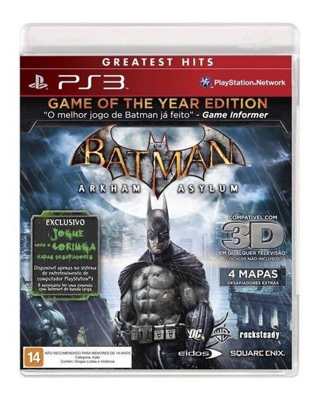 Jogo Ps3 - Batman: Arkham Asylum - Mídia Física - Usado