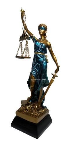 Dama Diosa Justicia 29cm En Resina Escultura Themis Abogados