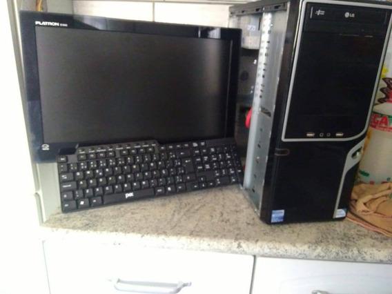 Computador Gamer, Acompanha Monitor E Teclado.