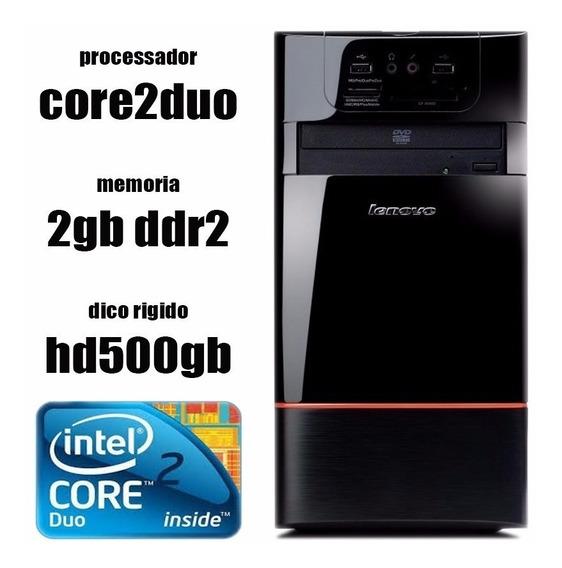 Pc/cpu Lenovo E200 Core2duo + 2gb + Hd500gb + Dvd