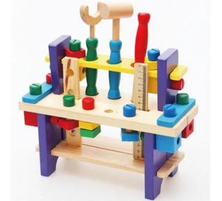 Caja De Herramientas De Madera Juguete Para Niños