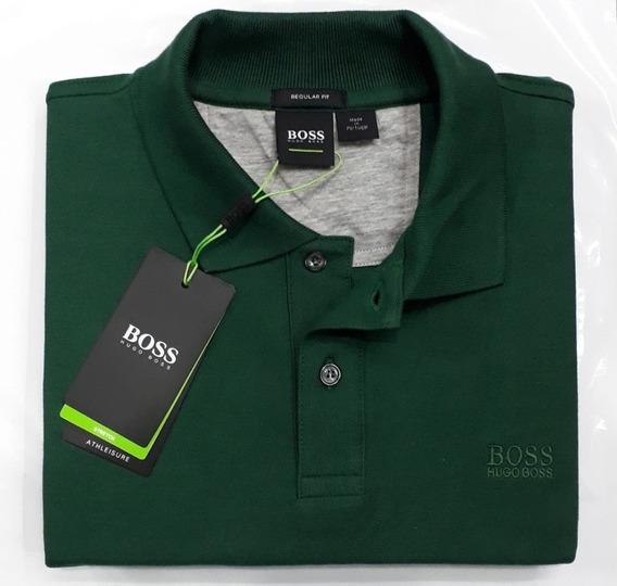 Camiseta Polo Marca Hugo Boss Talla S Color Verde Militar