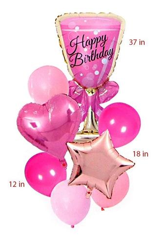 Globos X8 Copa Happy Birthday