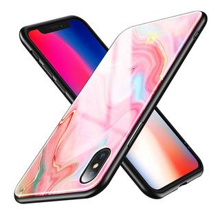 Floveme Para iPhone X / Xs Rosa Ágata Impresión Ordenador Pe