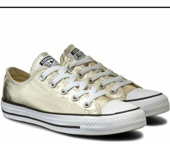 Zapatillas Converse All Star Golden Metalizadas Doradas