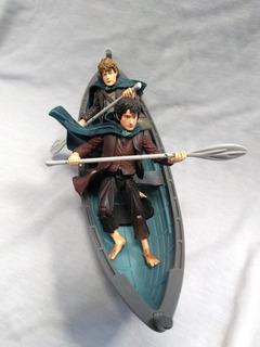 El Señor De Los Anillos Toy Biz Frodo Y Sam + Canoa