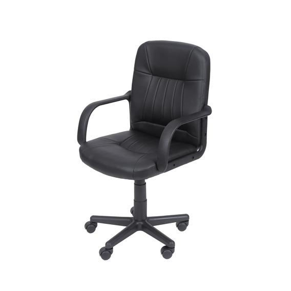 Cadeira Escritorio Compass Giratória Cor Preta 95,5x57,5x43