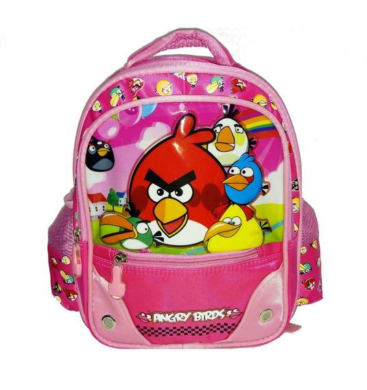 Mochila Espalda 12 Jardin Angry Birds - Jugueteria Aplausos