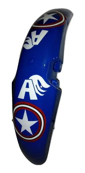Paralama Titan Personalizado 125 Fan Capitão América Grafitado Novo Marvel Barato Pronta Entrega