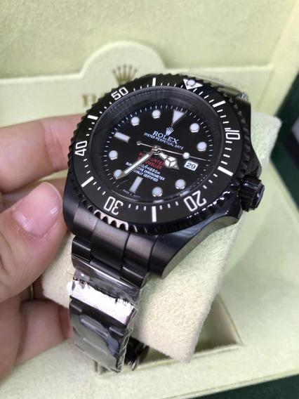 Rolex Deepsea Preto All Black 44mm Pvd Safira Automático