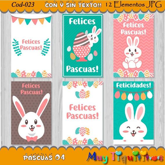 Kit Imprimible Pascuas 04 - Tarjeta Etiqueta - Jpg - 2x1