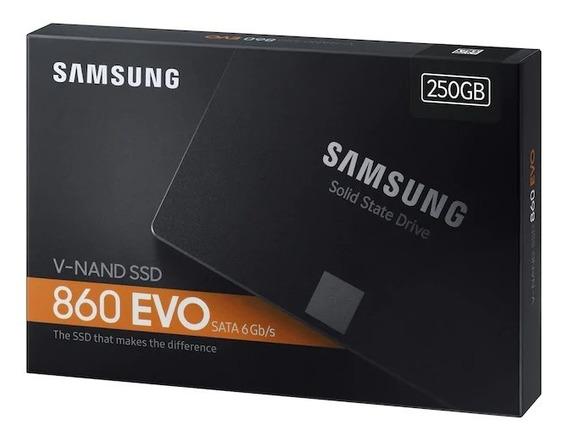 Ssd Samsung 860 Evo 250gb Sata 3 Mz-76e250e - Envio Em 24 Hr