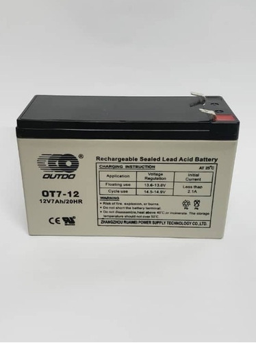 Bateria Recargable 12 V / 7 Ah Para Ups Y Centrales